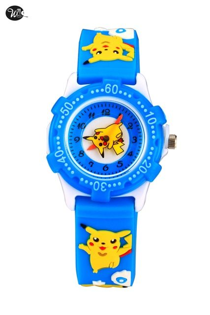 10pcs/lot wholesales hot sales blue cartoon Than qiaqiu kids boys girls gifts watch quartz silicone alloy wristwatch