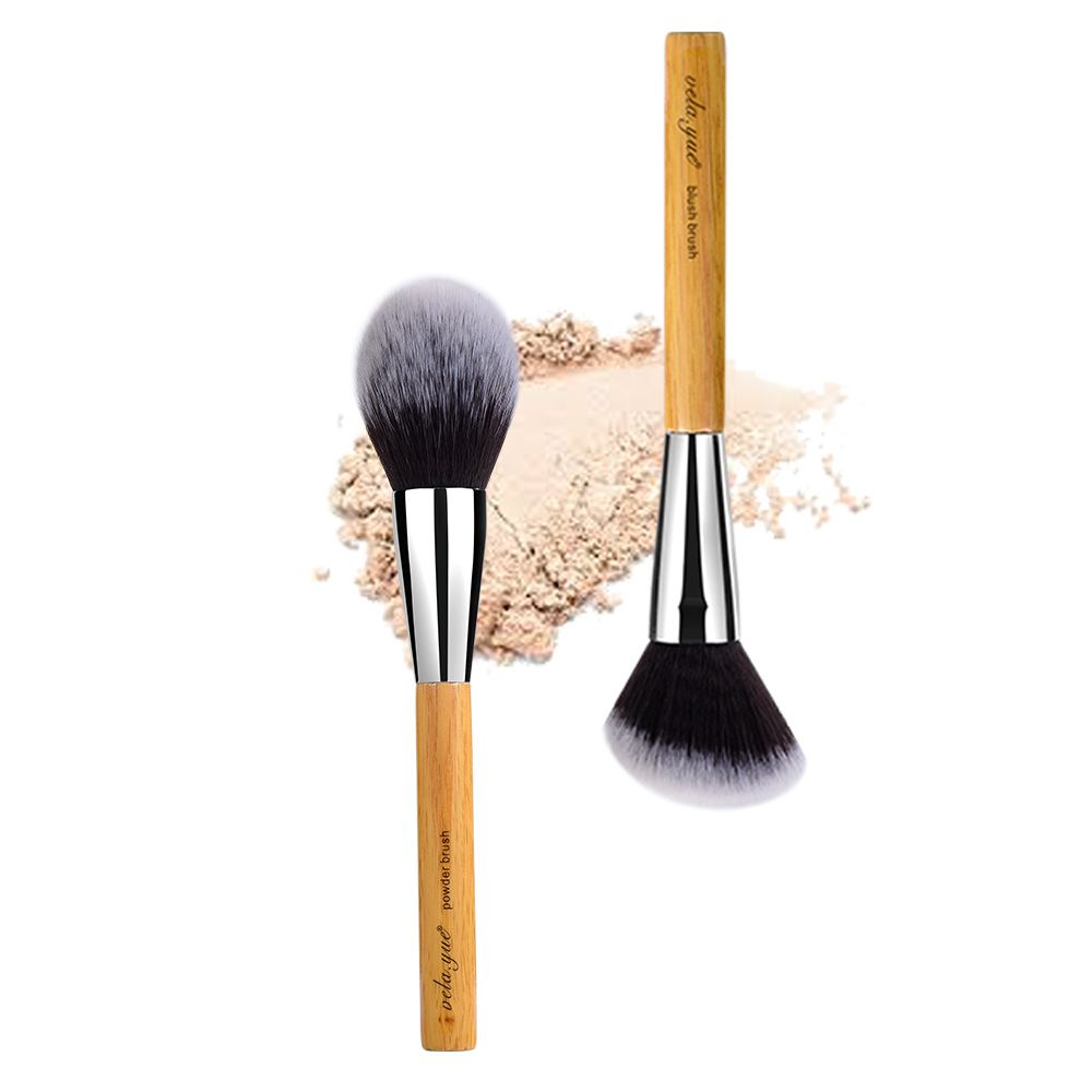 vela.yue Large Powder Brush Synthetic Vegan Face Cheeks Minieral Loose Powder Blusher Bronzer Highlight Contour Makeup Tool