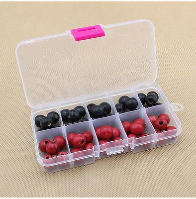 10 Compartments Plastic Box Jewelry Bead Storage Container Craft Organizer