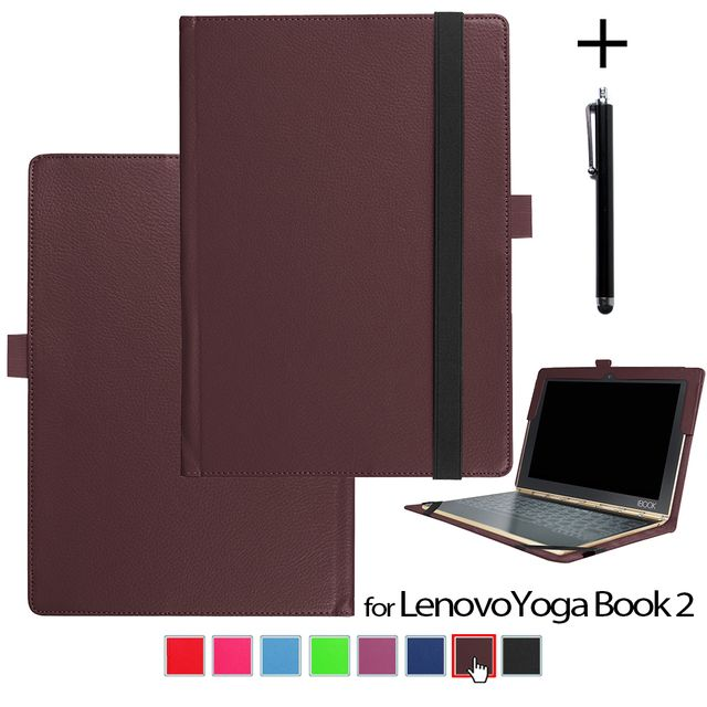 Case for Lenovo Yoga Book 2 tablet 10.1 inch Folio Slim Smart Cover Protective PU Leather case