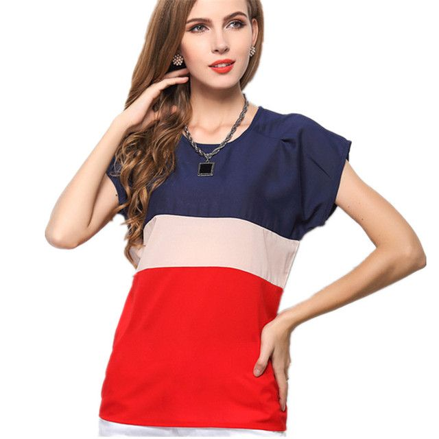 Women t-Shirt Chiffon Patchwork Casual Summer Women Clothes Plus Big Size Roupas T Shirt Female Ladies Top Tee t-Shirt Clothing