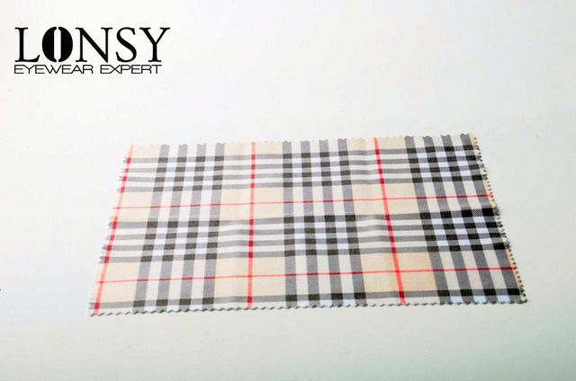 LONSY High quality grid Sunglasses microfiber cleaning cloth 100 glasses cleaner Eyewear Accessories Free shipping