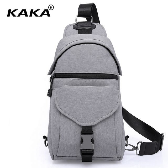 2018 New KAKA Brand Fashion Korean Style Unisex Men Messenger Bags Women Chest Pack Boy Cross Body Bag Functional Handbag Black