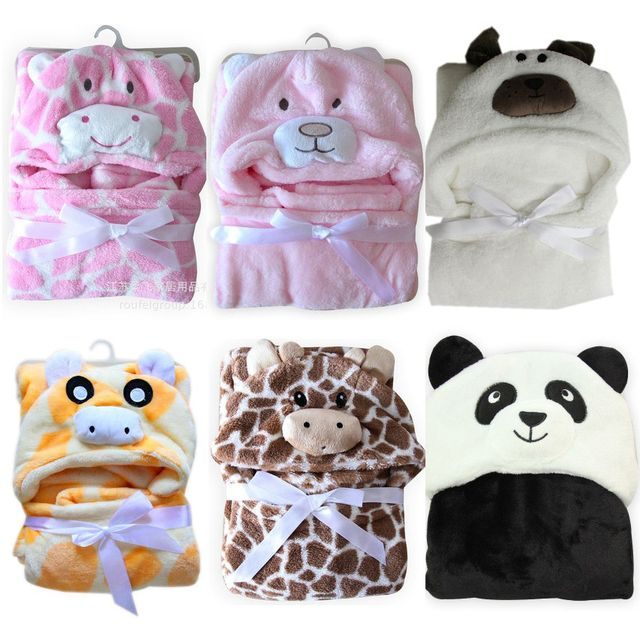 Baby Blanket Neonatal Hold Coral Fleece Hooded Blanket Swaddling For Toddlers Infant Envelope For Newborns Hooded Bathrobe Towel