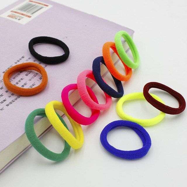 1000pcs/lot Women Elastic Hair Bands High Quality Elastic Hair Bands Rubber Band Hair Rope Headband Women Headwears