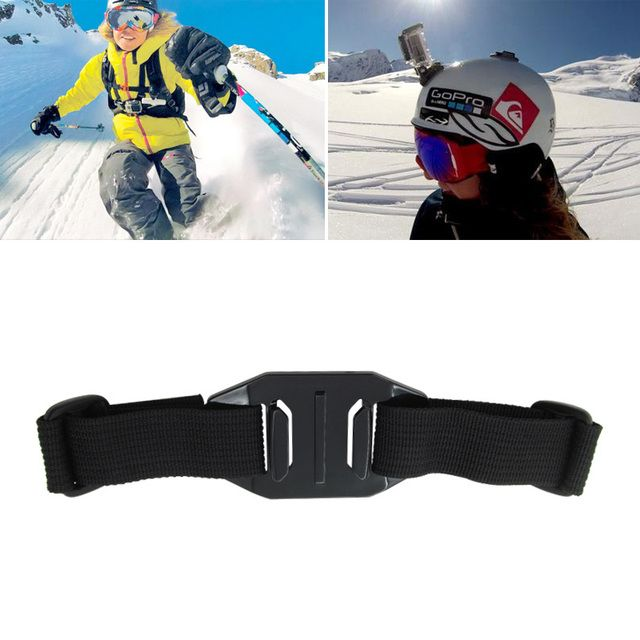 For Gopro Accessories Cycling Skiing Vented Adjustable Head Helmet Strap Mount Holder Adapter For Gopro Hero 2 3 3+ 4 SJ4000