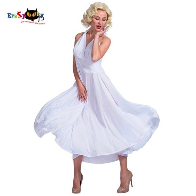 Women Sexy dance women Movie Star Celebrity Costume Cosplay Party Fancy Dress for Female Adult Lady White Halloween Costumes