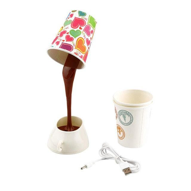 USB Pour Coffee Lamp LED DIY Table Lamp Night Light Bedside Lamp Brand New