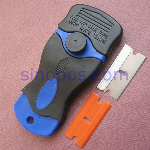 Handy Safety Scrapers Mini, sticker glue removing floor wall window glass tint clean tools film razor blade knife plastic steel
