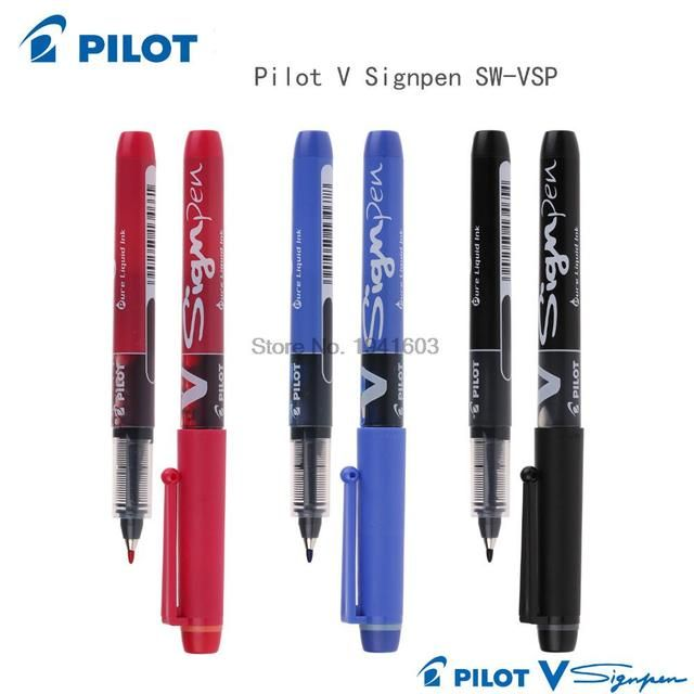 6 Pieces/lot Sign Pen 0.6MM PILOT SW-VSP office and school signature gel pen  WSS