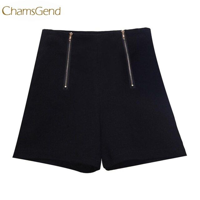 Chamsgend Newly  Women Causual Summer High Waist Zipper Fly  Elastic Shorts 160120 Drop Shipping