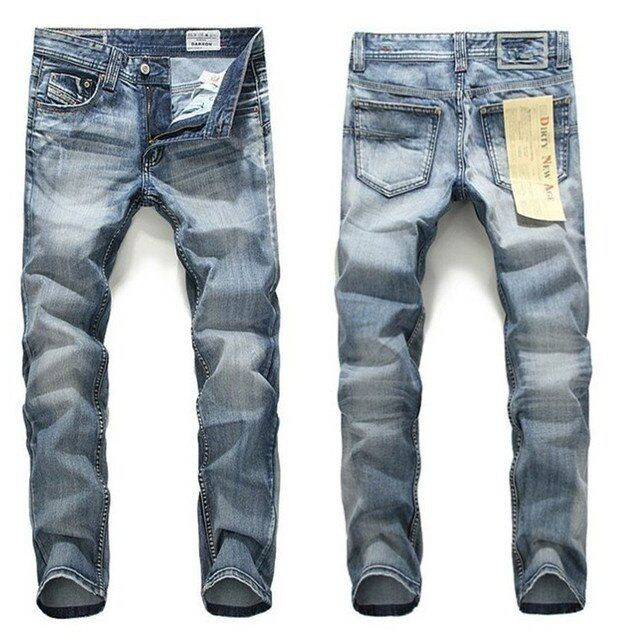2016 real zipper fly cotton mid heavyweight full length fake zippers the new jeans men wear slim straight men's trousers