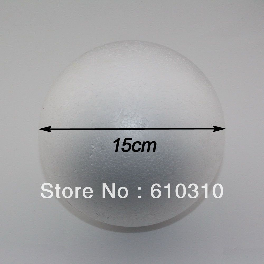CCINEE wholesale 15cm natural white styrofoam round balls Craft ball foam ball diy handmade painted ball(8pcs/lot)