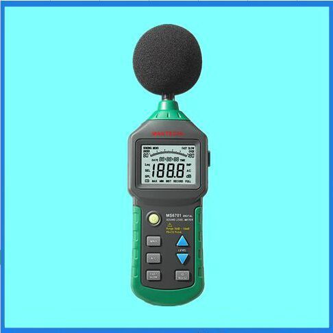MASTECH MS6701 Autoranging Digital Sound Level Meter Decibel Tester With RS232 Interface Software 30dB to 130dB