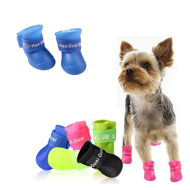Summer Pet Yorkie Dog Shoes Waterproof Rain Shoes  for Small Dogs Breeds  Pet Cat Dog Socks Rubber Silicone Pet Dog Boots