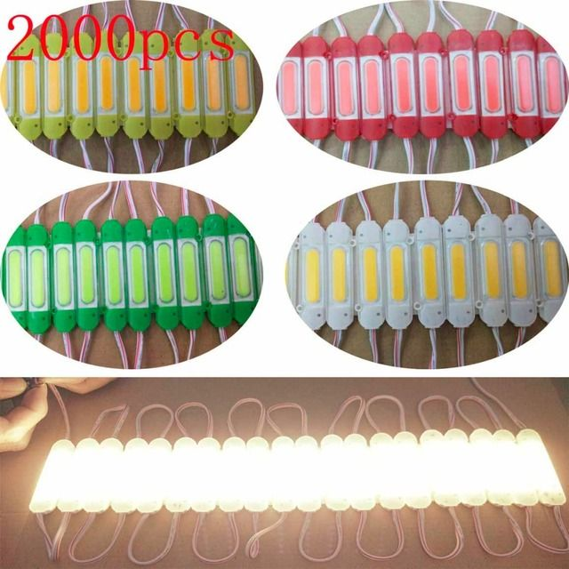 FREE DHL 2000pcs/lot 2.4W/pcs injection COB LED Module with lens 160 degree,DC 12V advertising light,3 years warranty