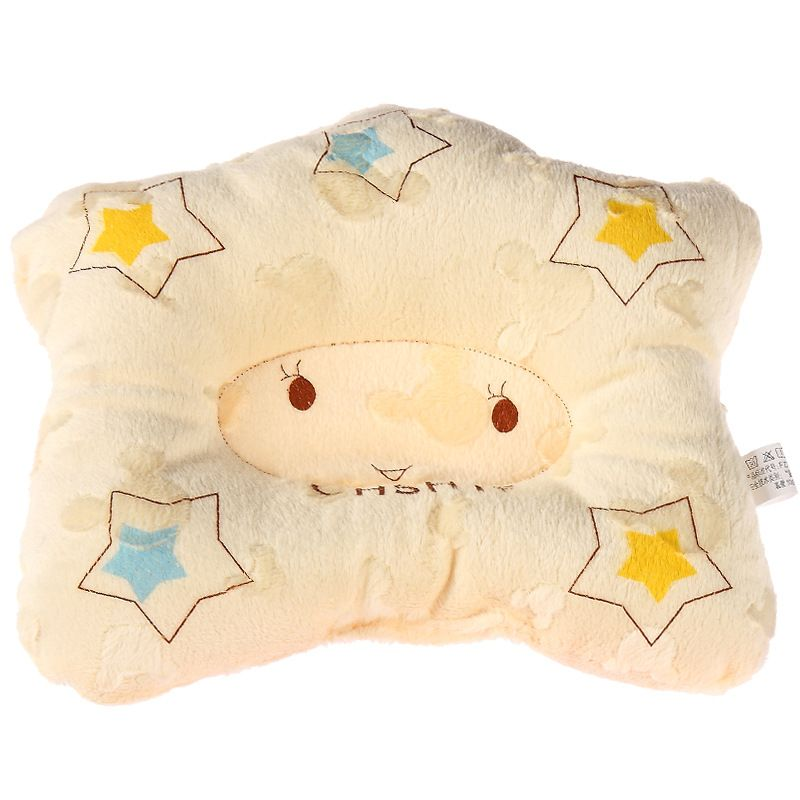 Comfortable Cotton Anti Roll Pillow Baby Toddler Safe Cartoon Sleep Head Positioner Anti-rollover Baby Pillow 1pcs/lots zt15