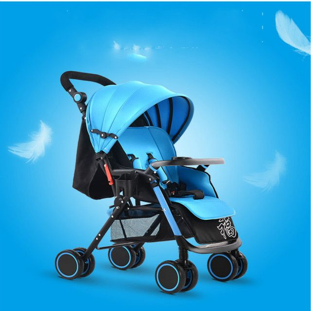 Baby stroller light push baby car four wheel folding baby bb car umbrella