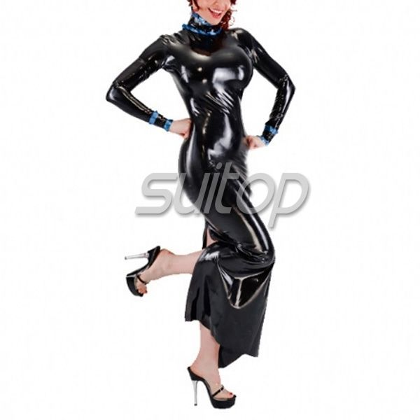 Suitop latex maid dress with apron