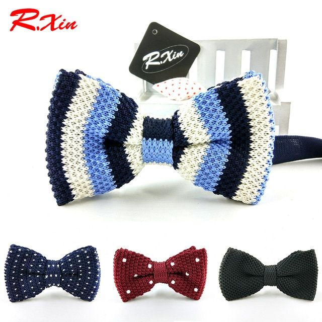 New 2016 style Adults Bowknot Men Knit tie Wedding Party Adjustable Neckwear many knitting dress tie bowtie Ties for men