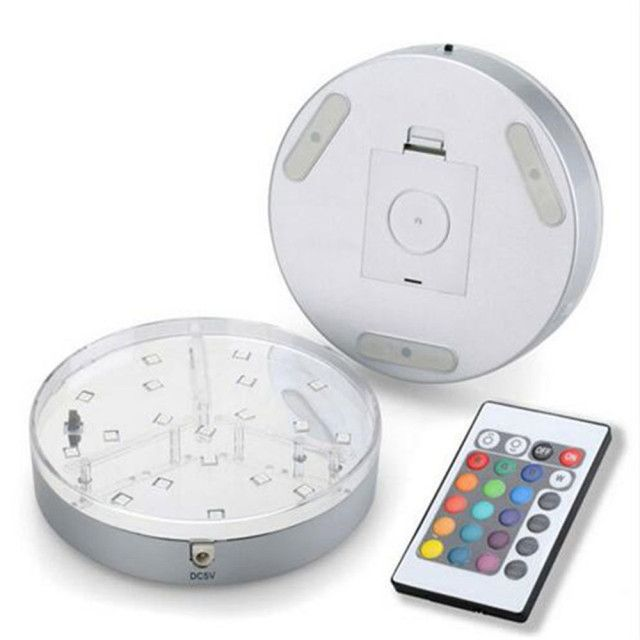 Kitosun Design Display Base LED Lighted Silver Mirrored Center 24 Keys Remote Controller 16 Colors Cycling Colored Lights