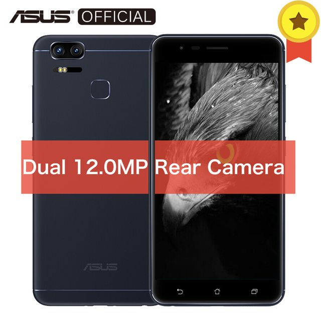 Asus ZenFone 3 Zoom ZE553KL Qualcomm Snapdragon 625 Octa Core Dual 12 MP Cellphone Android 6.0 Touch ID 4GB RAM 128GB ROM 5.5""
