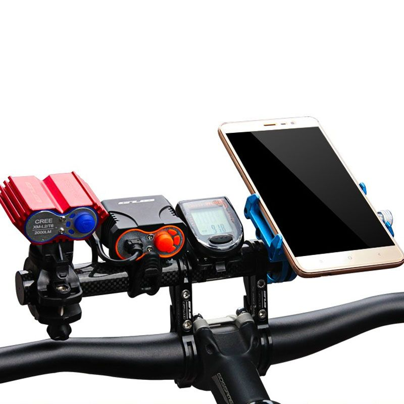 Bike Handle Bar Extender T Frame Cycling Carbon Bike Bicycle Handle Bar Extender Clip Holder Light Extensions Frame SS