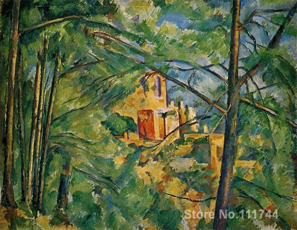 art landscape Chateau Noir Paul Cezanne Oil painting reproduction Handmade High quality