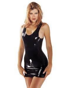 Summer dress 2016 Sexy Latex Summer Dress Fetish Rubber costumes Slim Black Party Vestidos Plus Size Hot Sale Customize Service