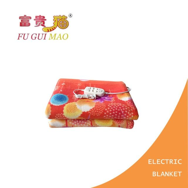 FUGUIMAO Electric Blanket Double Couverture Chauffante Electrique Plush Electric Heating Blanket 220v Electric Warmer Blanket