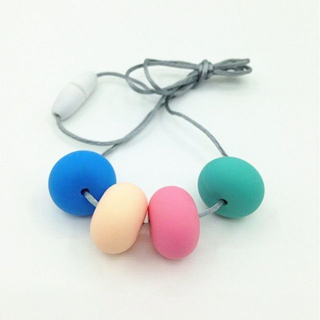 colorful Silicone Bead Necklaces with Free Shipping -- baby, mother, teething, food grade, waterproof, nursing, rubber