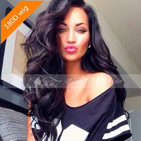 180 Density Full Lace Wig Brazilian Virgin Hair Human Hair Wigs Lace Front Wigs Glueless Full Lace Wig For Black Women