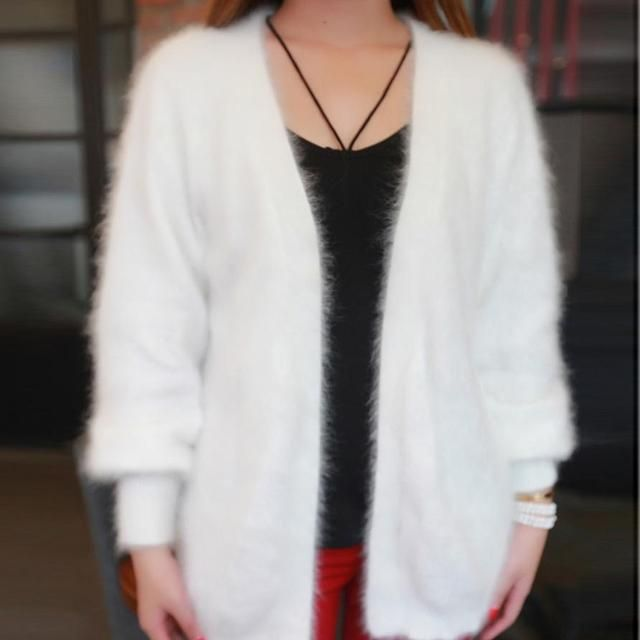 T Show Genuine Mink Cashmere Sweater Women Cashmere Cardigan Knitted Pure Mink Jacket Long Fur Coat Customized Free Shipping
