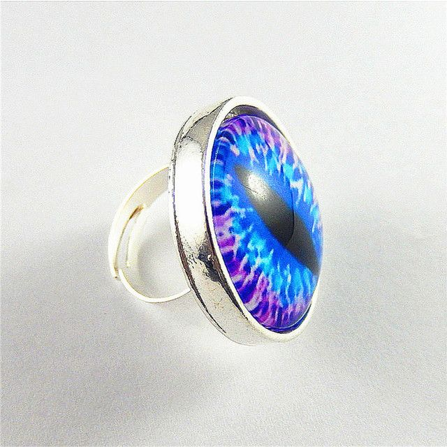 2016 New Fashion Jewelry Trendy Colorful Dragon Eye Ring Women Girl Nice Gifts Factory Wholesale Price 15 Different Color
