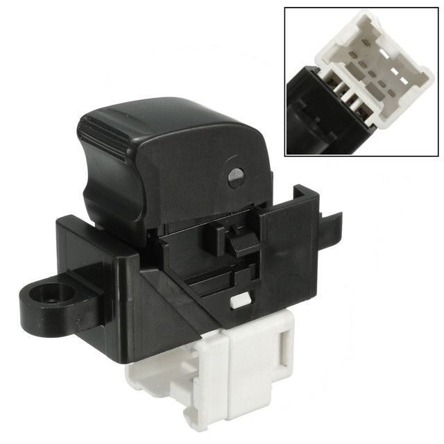 6 Pins Electric Power Window Switch For Nissan Pathfinder X-Trail Almera Patrol GU Y61 MK2 R20 T30 Front & Left Switches