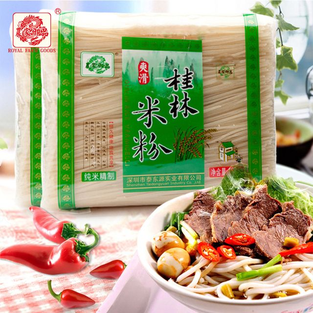 Guilin rice noodles,Chinese flavor,1800gX1 bags,Royal Farm Goods,instant,health,delicious,smooth,clean,transparent,free shipping
