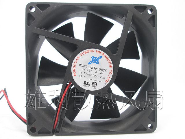 Free Delivery. Original YHWF-9025 12V 0.20A 9CM 9025 2-wire refrigerator water dispenser cooling fan