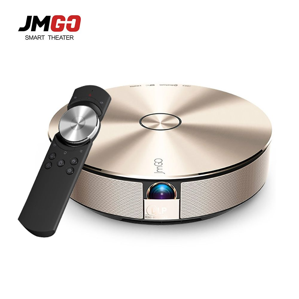 JmGO G1S 3D Smart Home Theater Support 1080P 300' Hi-Fi Bluetooth DLP Projector Android 4.3 WIFI Proyector Beamer For home use