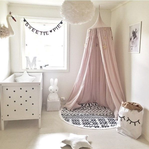 baby room decoration dome bed curtain Crib Netting baby tent cotton Hung Dome baby Mosquito Net photography props