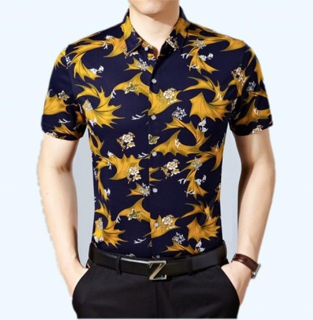 > 2016 new men fashion menswear >shirt printed cultivate one's morality short sleeve shirts