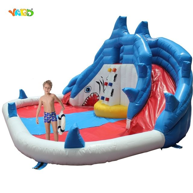 YARD Inflatable Slide Water Park Summer Swimming Pool with Cannons Bounce House for Kids Special Offer for Asia