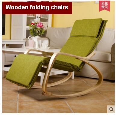 Wooden folding chairs nap leisure chair,  balcony rocking chair real wood the old man chair