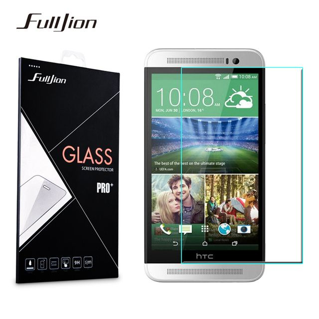Front Cover Tempered Glass Screen Protector For HTC One M7 M8 M9 E9 Desire 510 516 616 626 820 816 2.5D 0.33mm 9H Film + Clean