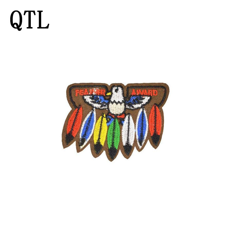 5PCS Indian Feathers Patches Badge for Clothing Iron Embroidered Patch Applique Iron on Patches Sewing Accessories for Clothes