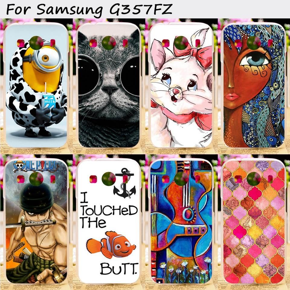Ojeleye Soft TPU Phone Cover For Samsung Galaxy Ace 4 LTE G357FZ Ace 4 Style LTE G357 Case Deluxe Vintage Elegant Durable