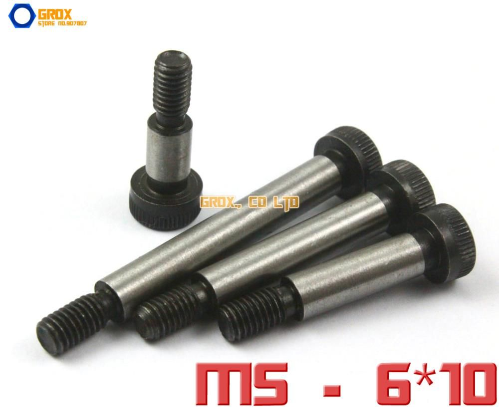 10 Pieces M5 Threaded 6 x 10mm 12.9 Grade Alloy Steel Hexagon Socket Head Shoulder Screw Bolt