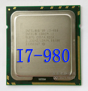 intel i7-980 i7 980 I7-980  CPU Processor 3.33 GHz 32nm Six-Core 130W  scrattered pieces  I7 980
