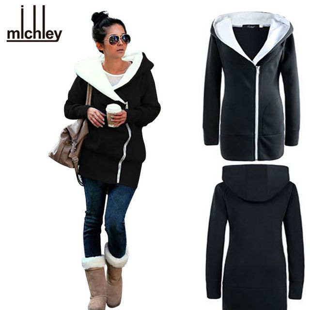 MICHLEY Plus Size 2016 Autumn Hoodies Women Autumn Coat Hoody Swearshirt Warm Moleton Feminino Winter Coat Camisolas Top6201