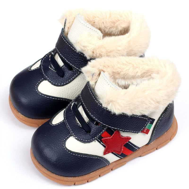 2015 Keep Warm Baby Girl Boy Snow Boots Soft Leather Baby Shoes Winter Baby Boots For Girl Infant Kids Baby First Walkers Shoes