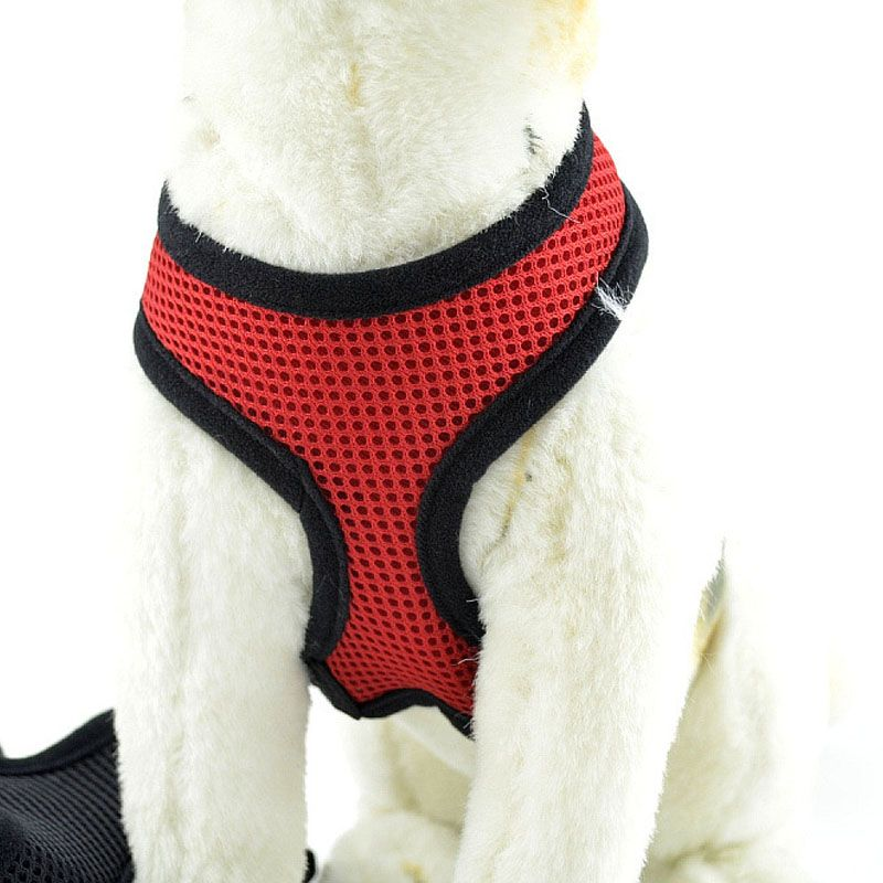 Adjustable Dog Harness Nylon Mesh Vest Soft Comfort Harness Dogs Puppy Cat Collar Pets Chest Strap Leash XS-XL